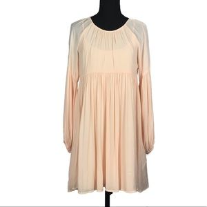 Forever 21 Sheer Peach Top Tunic Dress S * NWT new